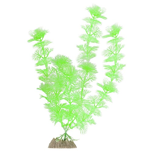 GloFish 77372 Plant for Aquarium Decoration, Fluorescent Green,Large