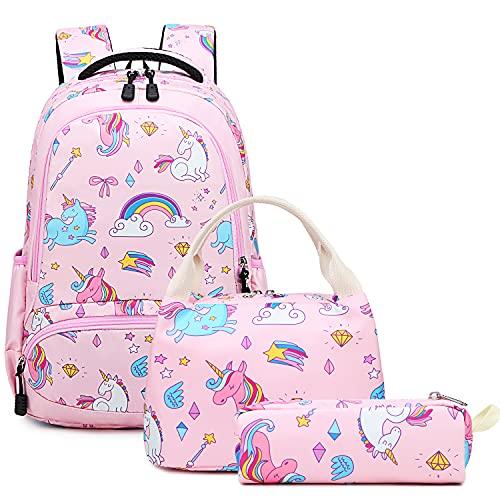 Mochila Escolar Unicornio Niña Infantil Chicas Sets de Backpack