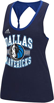 cc4ec941ba6 adidas Dallas Mavericks NBA Women s Navy Blue Fashion Twist Tank Top