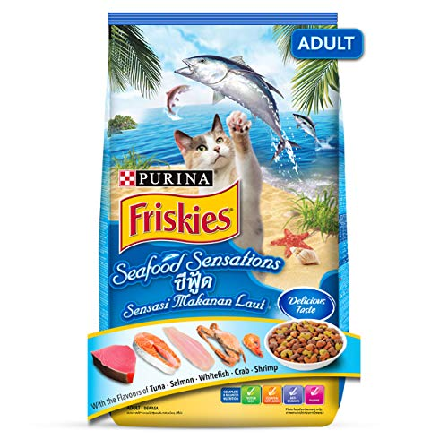 Purina Friskies Seafood Sensation Adult Cat Food from Nestlé, 1.2 kg