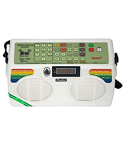 Cheap NEW ELECTRONIC ~TABLA RADEL TAALMALA DIGI-108 WITH MANJIRA~3 YEAR WARRANTY SALE