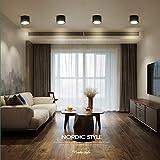 Faretto fisso a soffitto cilindrico moderno da 4 confezioni, montaggio superficiale, faretto a LED, faretto da incasso a soffitto 5W / 7W / 12W, plafoniera per soggiorno, corridoio, corridoio - nero (