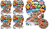 Stress Ball Jelly Beads Balls Squishy Toy DNA Globbie (Pack of 4) by JA-RU. Stress Relief Toy for Kids and Adults. Great for Anxiety, Autism and Hand Therapy. Party Favor Supply in Bulk. #4200-4p
