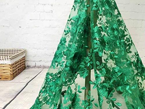 Astonish 2018 High-End-Mode-Französisch-Spitze-Gewebe-Qualitäts-afrikanische Tüll gestickte Blume transparentes Netz-Spitze-Gewebe für Hochzeit: GN
