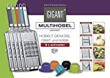 Novabest Gigant Multihobel Multi-Slicer mit 4 Einsätzen (Edelstahl)