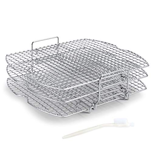 Dehydrator Rack Stainless Steel Stand Accessories Compatible with Ninja Foodi Grill, AG300, AG400
