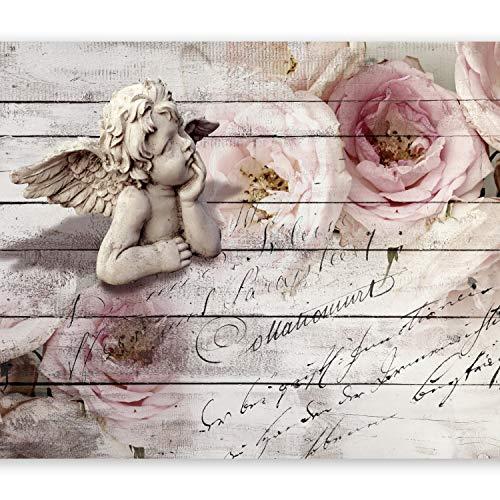 murando Papier peint intissé 300x210 cm Décoration Murale XXL Poster Tableaux Muraux Tapisserie Photo Trompe l'oeil ange Rose f-A-0313-a-a