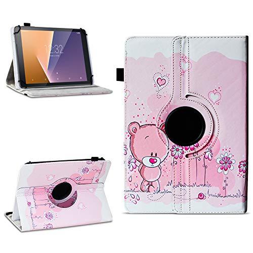 Tasche für Vodafone Tab Prime 7 Tablet Hülle Schutzhülle Case 360° Drehbar Cover, Farben:Motiv 1