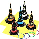 10 Pack Inflatable Witch Hat Ring Toss Game Halloween Games for Kids Adults for Halloween Party Favors Halloween Games