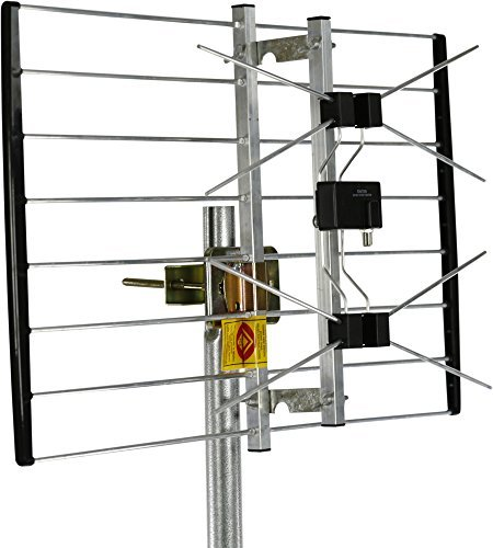 Channel Master METROtenna Outdoor TV Antenna Multi-Directional 180° Reception for Roof, Attic, Eave, Chimney, Wall or Balcony - 40+ Mile Range - CM-4220HD