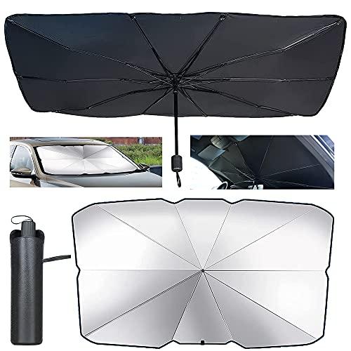 Parasol Sombrilla per Coche Lunas Delanteras,Auto Parabrisas Cubre,Sombrilla Paraguas del Coche,Plegable Parasol Delantero,Plegable Parasol Coche Delantero Protector.