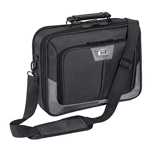 Pedea Laptoptasche Premium Notebook-Tasche bis 15,6 Zoll (39,6 cm) Umhängetasche mit Schultergurt, Grau