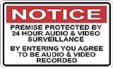 StickerTalk Audio and Video Surveillance Vinyl Sticker, 5 inches by 3 inches