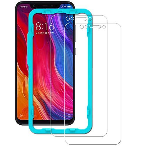 Ibywind Xiaomi Mi 8/Mi 8 Pro Protector de Pantalla [2 Piezas] Premium de Cristal Templado Protectores de Pantalla con Kit de aplicación fácil Instalar para Xiaomi Mi 8/Mi 8 Pro