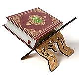 Aosong Soporte de madera para libros de Corán Sagrado Libro Titular para Escritorio para Lectura, Soporte de libro de Islam para Mostrar Rehal Islam Decoración del hogar, 16,5 × 13 × 14 cm