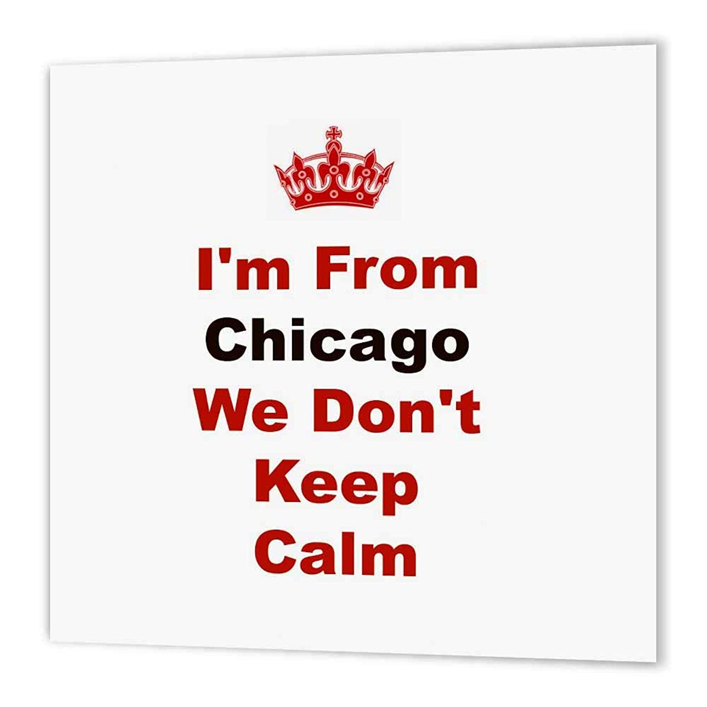 3dRose ht_180038_3 Don't Keep Calm, Chicago, Red and Black Lettering on White Background-Iron on Heat Transfer Paper for White Material, 10 by 10-Inch jbdhbxsnfkdld462