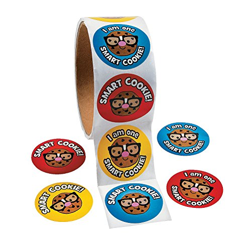 Fun Express Smart Cookie Roll Stickers - 1 Piece - Educational and Learning Activities for Kids