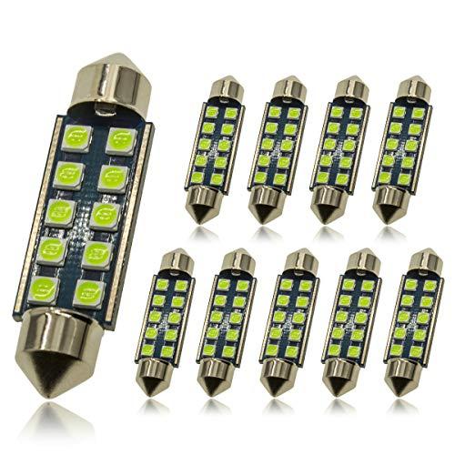 DODOFUN 41MM 42MM Festoon 211-2 569 578 6411 Ice Blue Color Extra Bright LED...