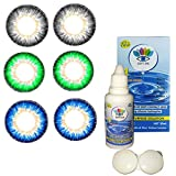 Soft Eye - Green, Grey, Dark Blue Color Monthly Contact Lens with case