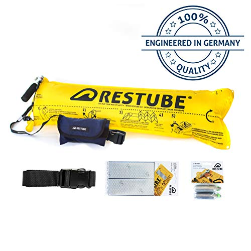 Restube Basic Starter Bundle Schwimmboje, Marineblau, Small