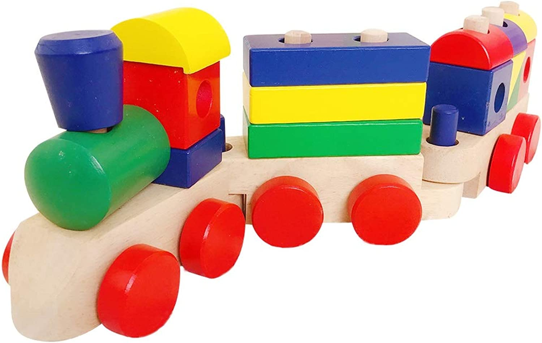 barato y de alta calidad RFJJAL Bloques de Madera Tren de apilamiento Tren Niño Juguete Juguete Juguete Infantil (Tamaño   L)  nueva marca