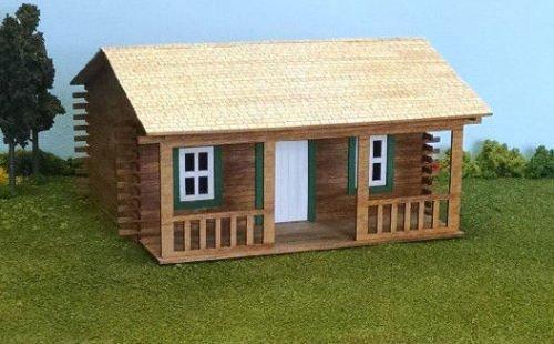 Train Time Laser O Scale Log Cabin Building Kit