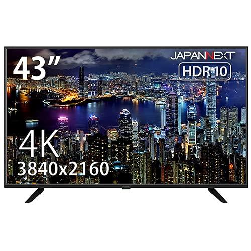 JAPANNEXT 43インチ 4K液晶モニター JN-VT4300UHDR HDR対応 VAパネル USB再生対応