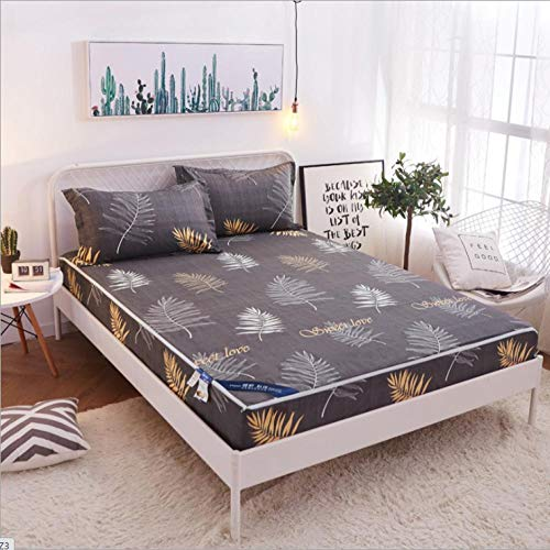 GSYHZL Super Soft Bed Sheet,Bedding cotton bedspread, apartment solid color single bed, printed waterproof king mattress protector-H_150*200+20cm