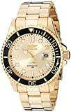 Invicta Men's Pro Diver Quartz Watch with Stainless Steel Strap, Gold, 22 (Model: 30025)
