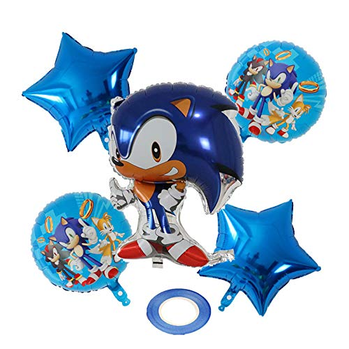 5pcs 18inch Sonic Foil Helium Balloons Super Hero Baby Shower Birthday Theme Party Decoration Supplies Kids Toys Air Globos