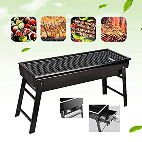ACEOLT Lightweight Portable BBQ Charcoal Grill for Camping and Party, Foldable BBQ Tool Kits, Charcoal Barbecue Grill Smoker Grill for Outdoor Cooking Hiking Picnics
