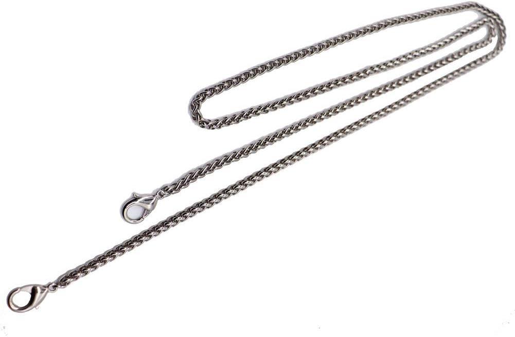 Black Metal 47 DIY Iron Lantern Chain Strap Handbag Chains Accessories Purse Straps with 2pcs Metal Buckles