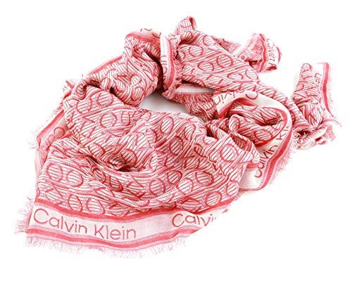 Calvin Klein CK Mono J Scarf Silver Pink Mix