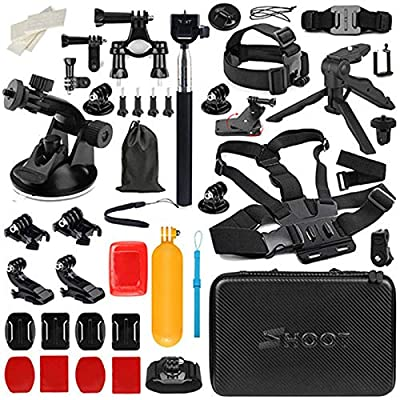 D&F Action Camera Accessories Kit for OSMO Action Gopro Hero 8/7/6/5,Crosstour,AKASO,Campark and Other Action Cam (30 in 1) from Dingfeng