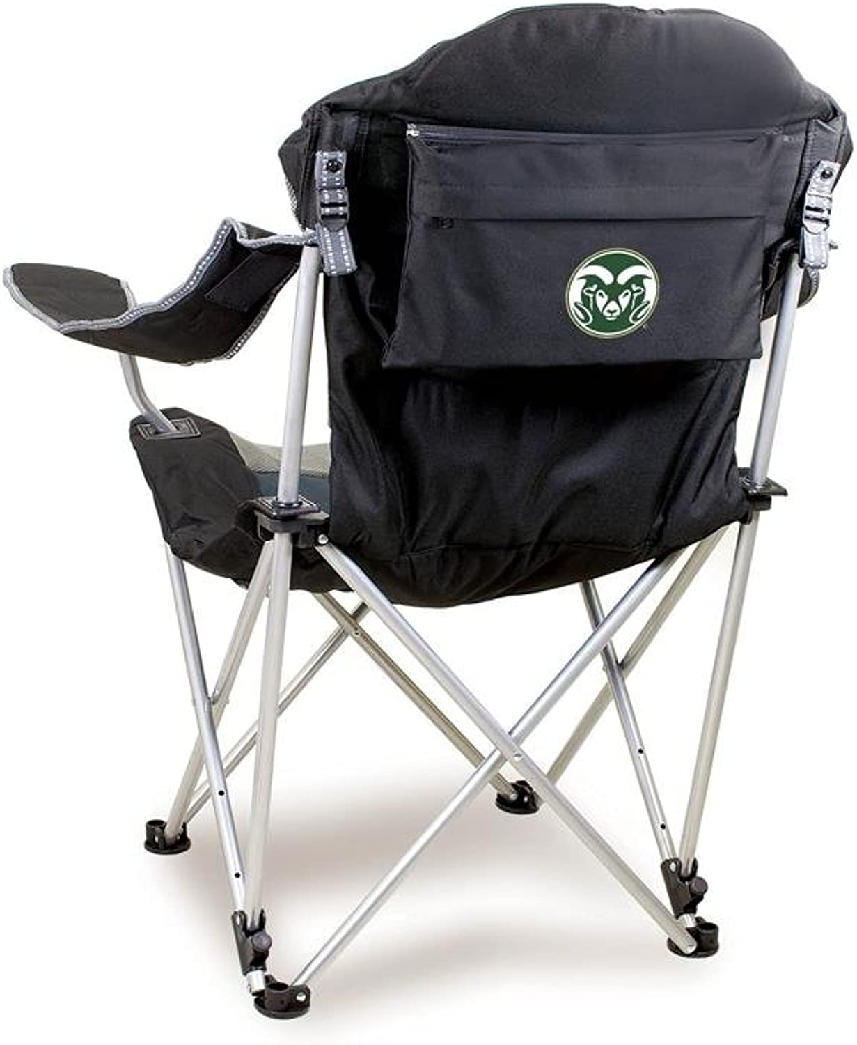 NCAA colorado State University Digital Print Reclining Camp Chair, Black, One Size