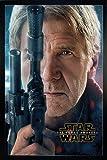 Star Wars Episode 7 Poster Han Solo (66x96,5 cm) gerahmt