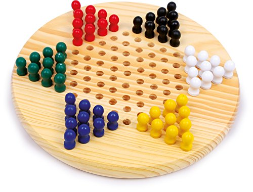 Traditional wooden Chinese Checkers game