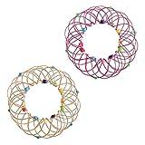 Spielzeug 2PC Dekompression Sorte Blumenkorb weichen Stahl Magic Hoop Ornament Spielzeug Dekompression Flexibler Korb Weichstahl Magic Iron Ring Ornament