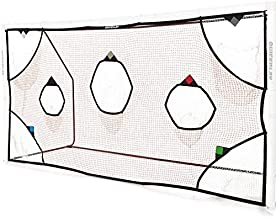 QuickPlay PRO Soccer Goal Target Net 3X2M with 7 Scoring Zones – Practice Shooting & Goal Shots
