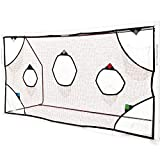 QUICKPLAY PRO Soccer Goal Target Net 12x6' with 7 Scoring Zones | Practice Shooting & Goal Shots | Soccer Goal Frame not Included