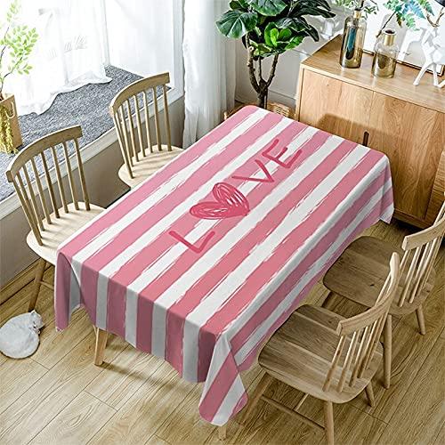 XXDD Mantel Moderno de Simplicidad Textil para el hogar Colorido patrón de Costura Cuadrada a Prueba de Polvo Mantel Rectangular A15 150x210cm