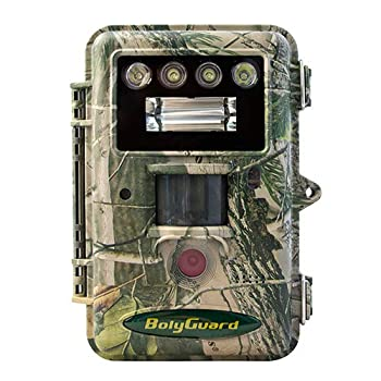 """Boly Trail Camera 36MP 1080P Video Game Camera with Dual Lights/Flashes White Xenon Flash 2"""" LCD Display up to 100ft Detection Range and 90ft Lighting Range Against Water & Snow Hunting Cam"""