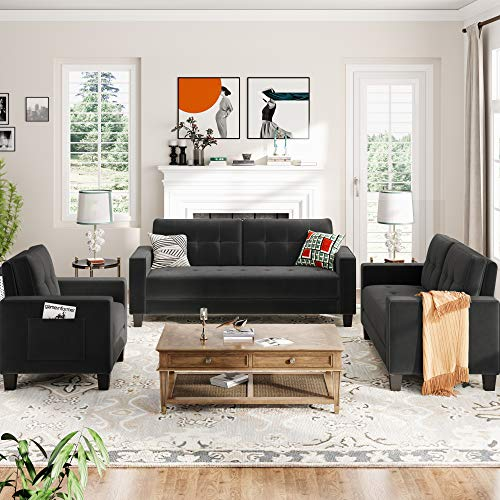 Sectional Sofa Set Morden Style Couch Furniture Upholstered Sectional Armchair, Loveseat and Three Seat for Home or Office