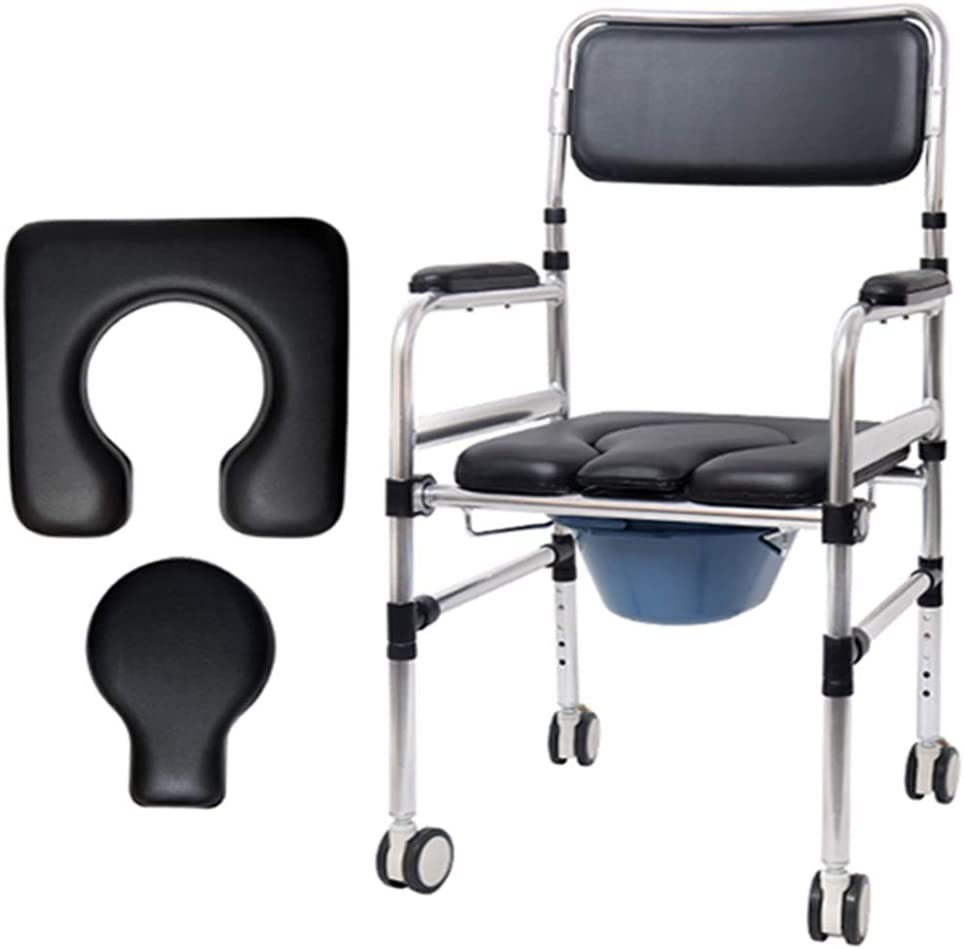 Bedside Commodes for Adults Folding 4 years Free shipping warranty R Portable Chair Bath Shower