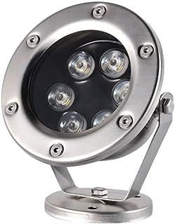 6W LED Underwater Flood Light Silvery Stainless Steel Submerged Light Landscape Fountain Lamp,AC12V, 24V Fountain Pond Light
