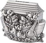 Plztou Recuerdo Caja de Dinero Caja de Metal Europeo Europeo Creativo Tanque de Almacenamiento alcancía Historieta Noah Ark Cambio Tarro Perfecto