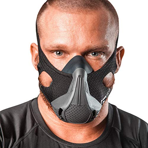 Cascade Fitness Gear Workout Mask 25 Breathing Resistance Levels Fitness Mask for High Altitude Training Simulation Helps Boost Cardio Endurance and Improve Lung Capacity Free Carry Case Included