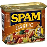 Spam Luncheon Meat Can, Garlic, 12 Ounce (2 Count)