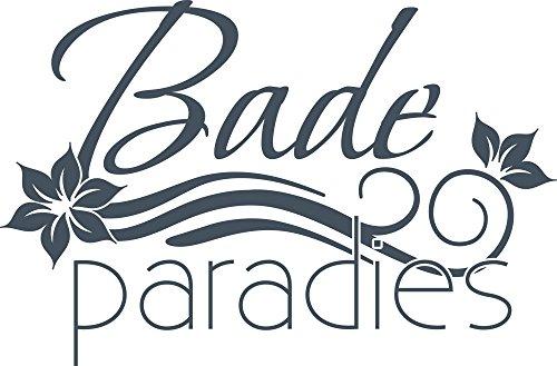 GRAZDesign muurtattoo Bade Paradies - tegeltattoo baddecoratie met bloemen / 650212 87x57cm 841 Blue Grey