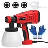 Paint Sprayer,flowlamp 700W High Power Home Paint Sprayer, with 1300ml Container, 3 Nozzle Sizes for Fence, Cabinet and Furniture, Easy Spraying and Cleaning Adjustable - Ideal for DIY Beginner Pai